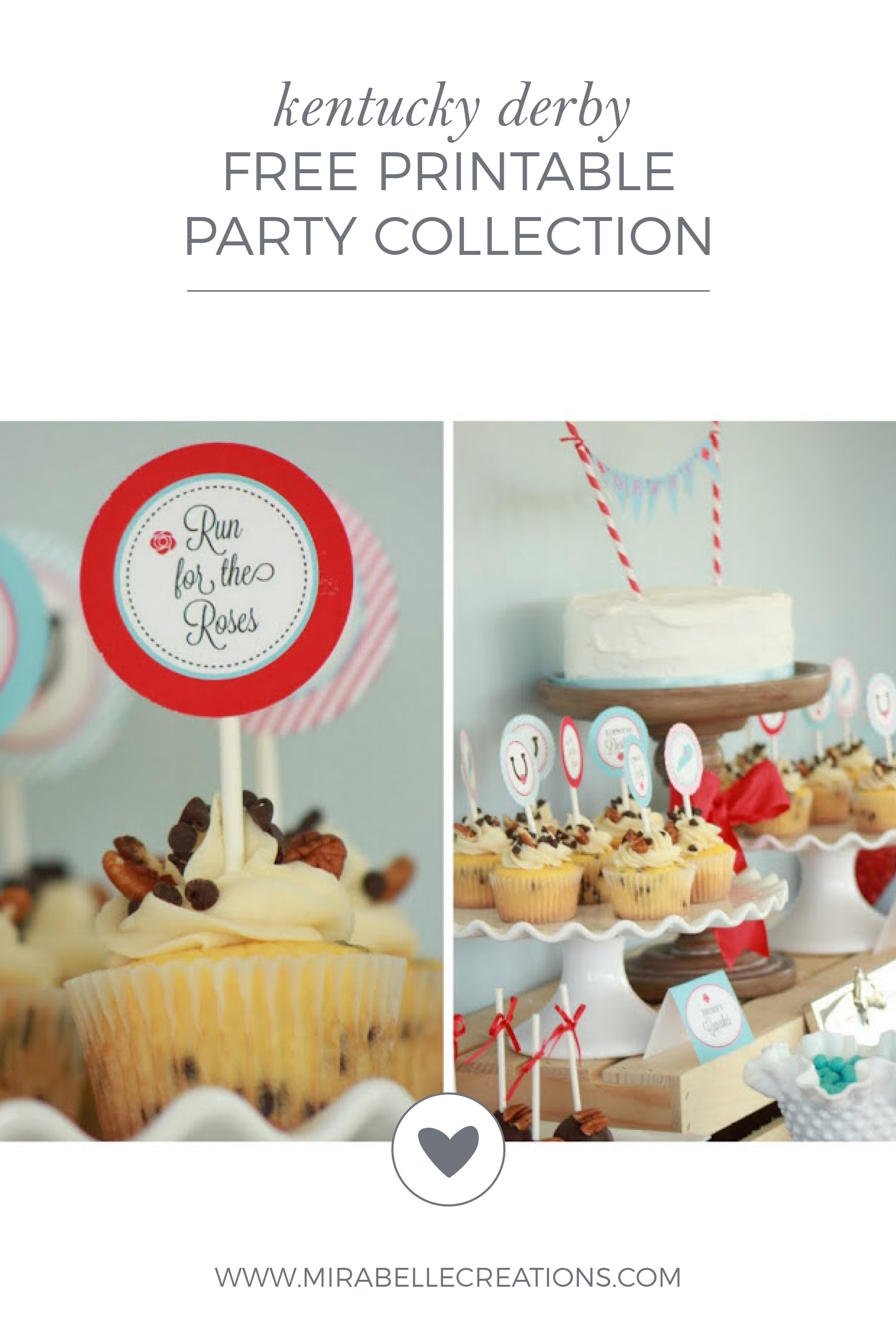 Kentucky Derby Party Free Printable Collection by Mirabelle Creations