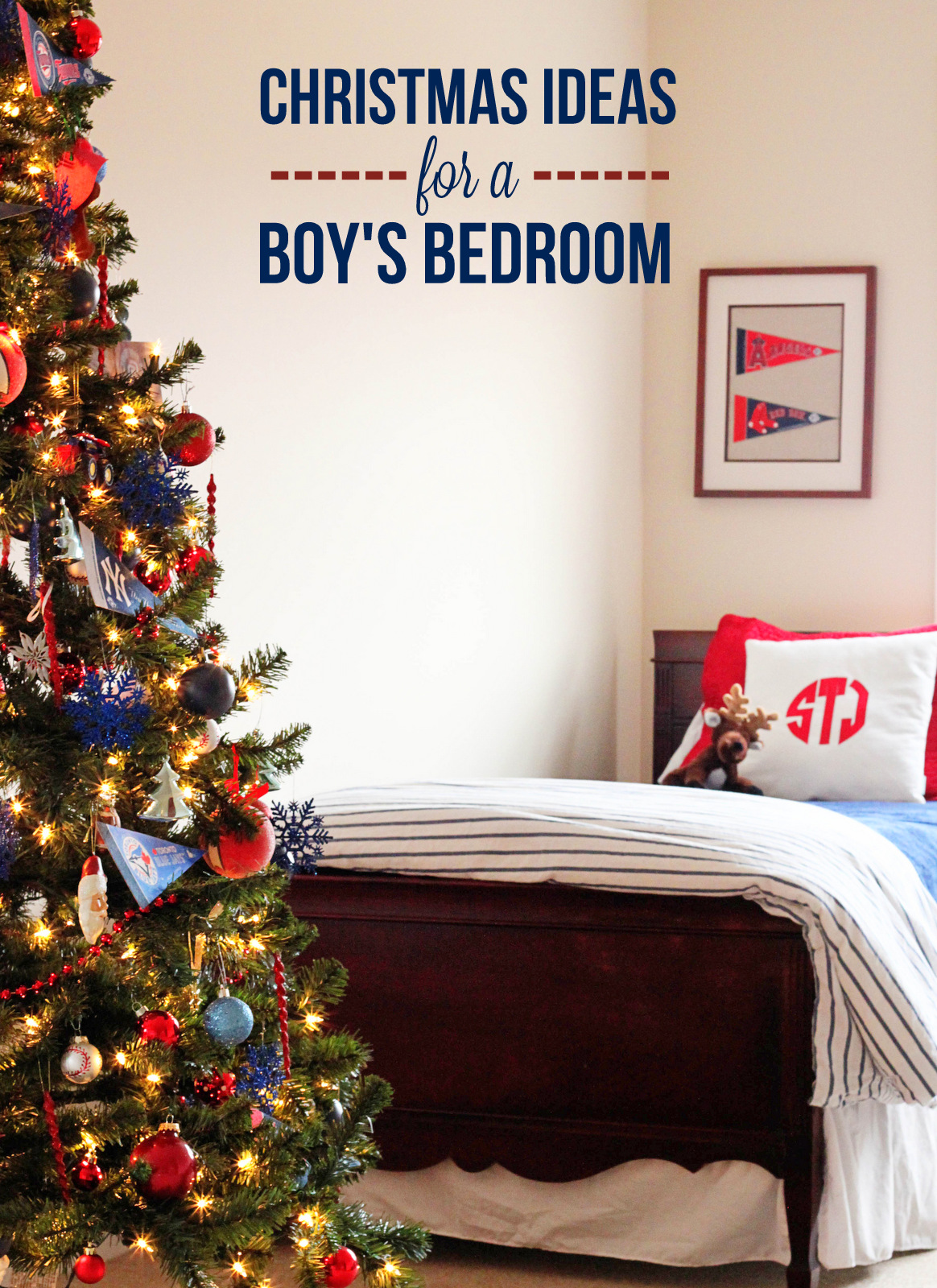 Holidays} Boy\'s Bedroom Christmas Ideas - Mirabelle Creations