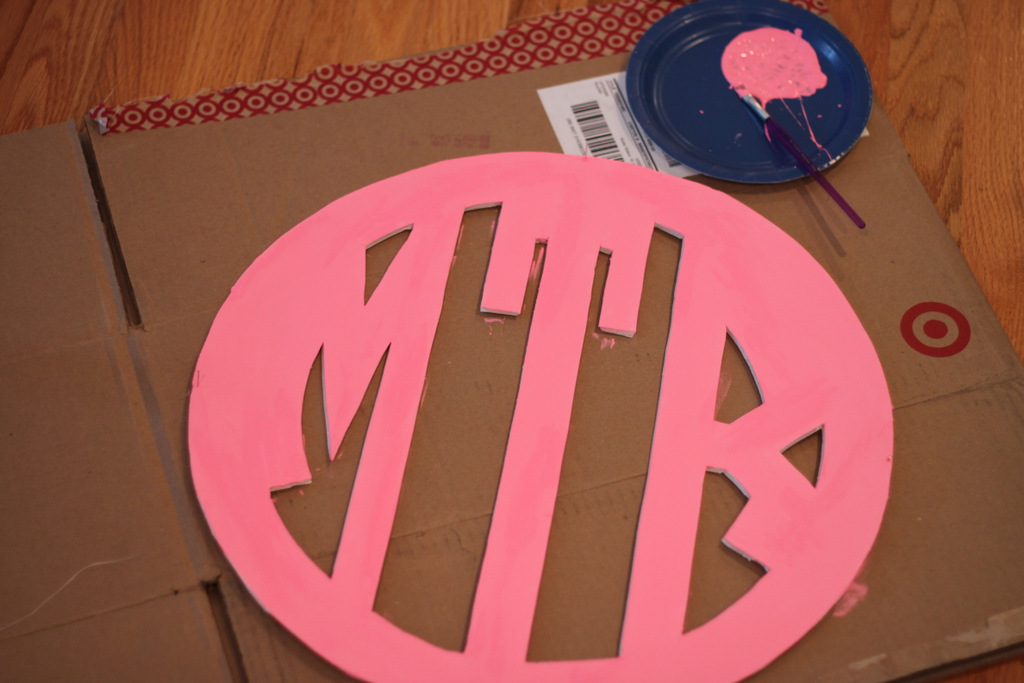 DIY.Monogram.Wall.Art.5.MirabelleCreations