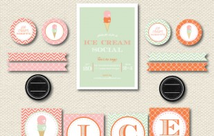 {New to the Shop} Fall Ice Cream Printable Party Collection