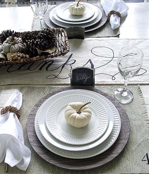 Holidays thanksgiving placesetting ideas mirabelle Modern fall table decorations