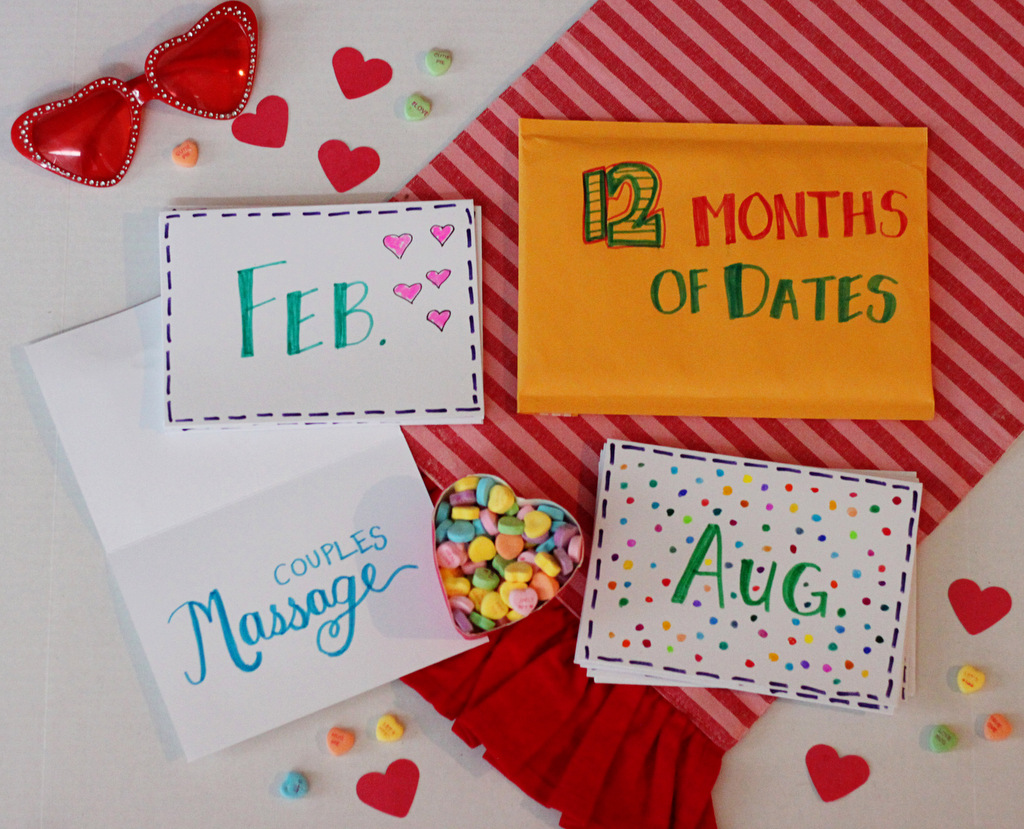 Holidays Diy Valentine S Day Gift For Him 12 Months Of Dates