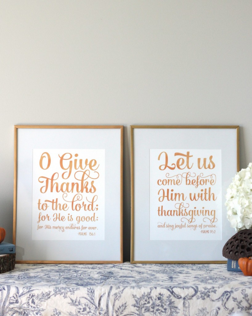 Give Thanks & Let Us Come Before Him Fall Art Prints