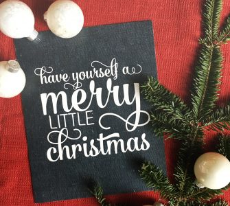 Chalkboard Christmas Art by Mirabelle Creations