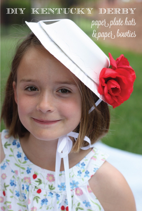 DIY Kentucky Derby Paper Plate Hats And Bowties For Kids By Mirabelle Creations