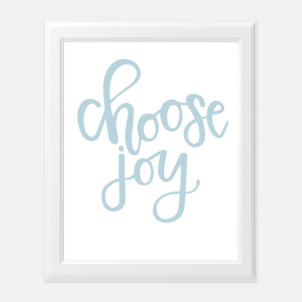 Mirabelle Creations Print of the Month - Choose Joy