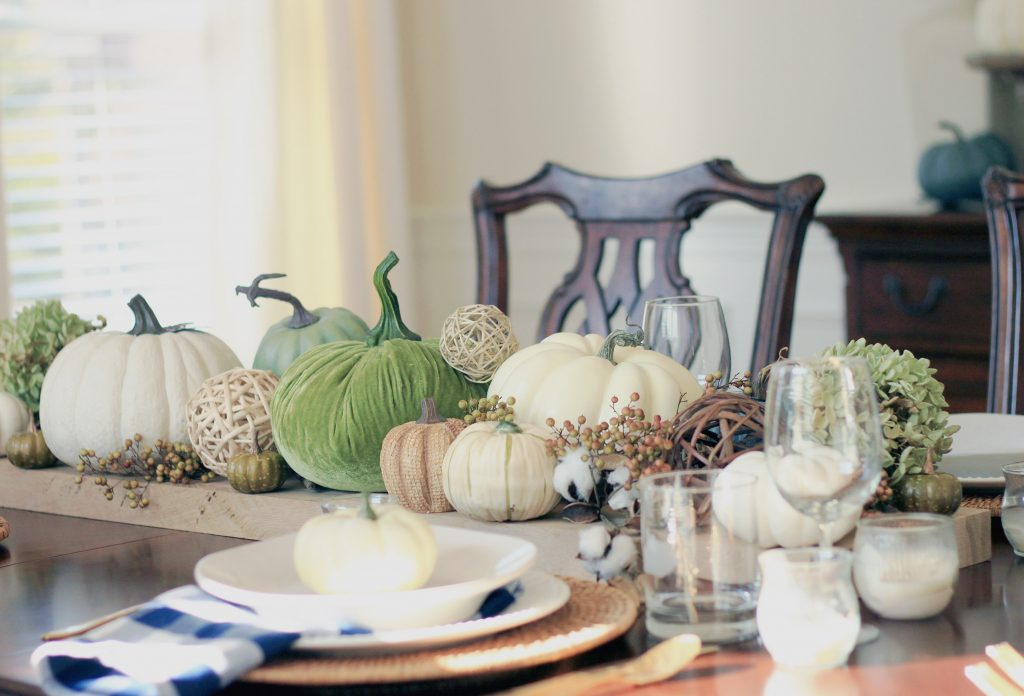 Fall Decorating in the Dining Room by Mirabelle Creations