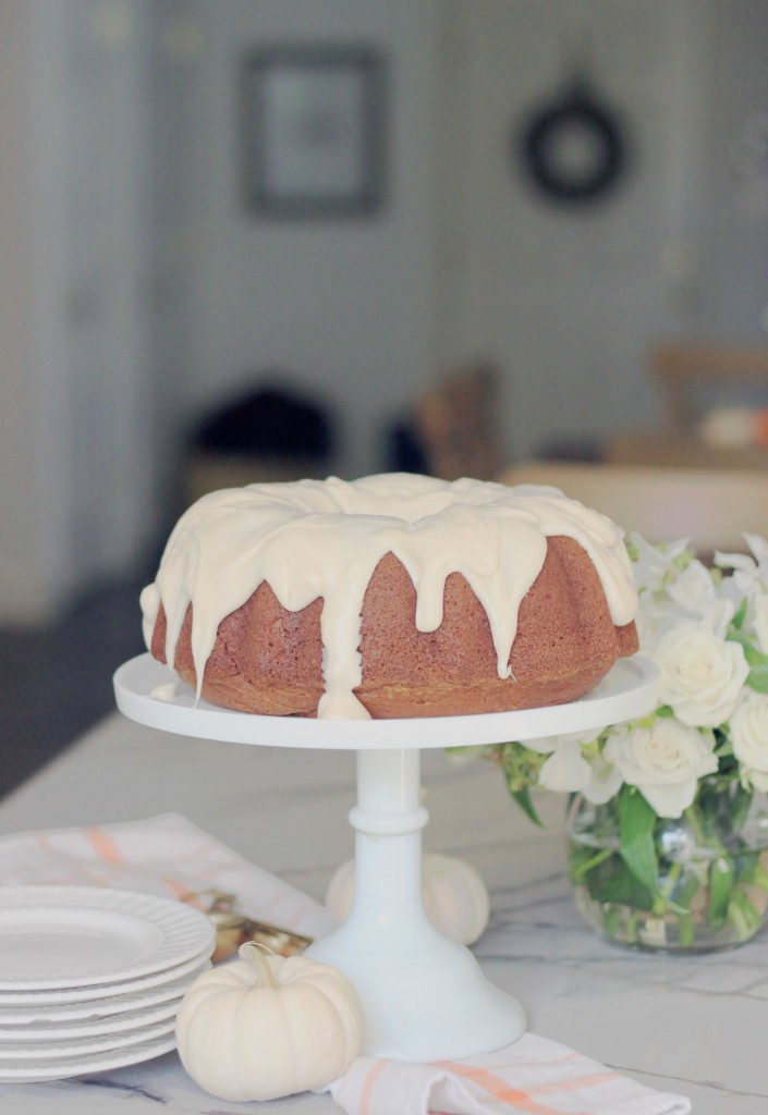 Pumpkin Spice Bundt Cake with Cream Cheese Icing by Mirabelle Creations