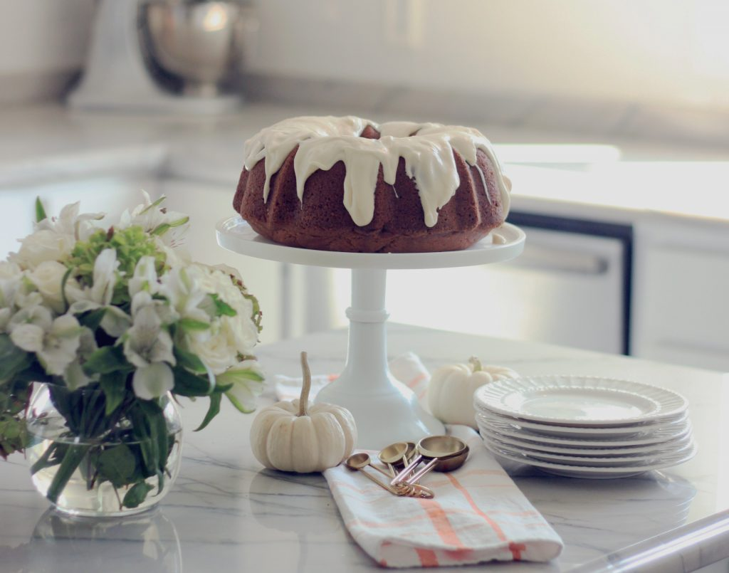 Pumpkin Spice Bundt Cake with Cream Cheese Icing