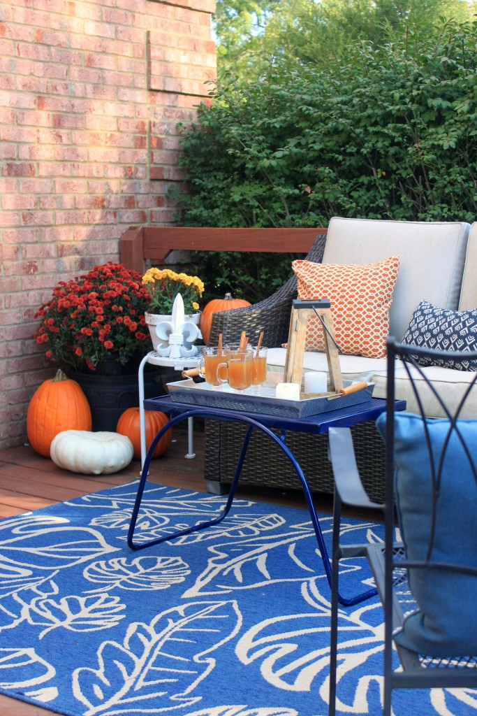 Fall Porch Decor Ideas by Mirabelle Creations