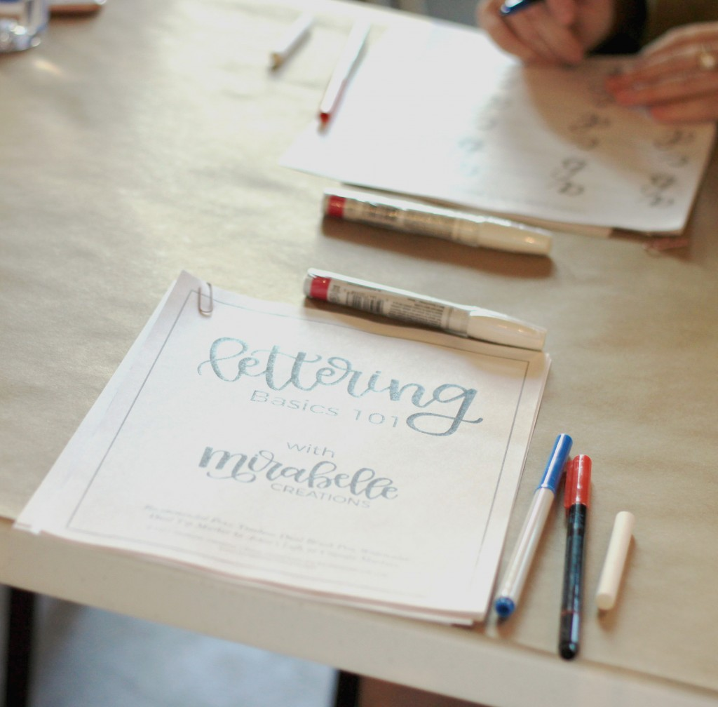 Hand Lettering Basics Workshop with Mirabelle Creations