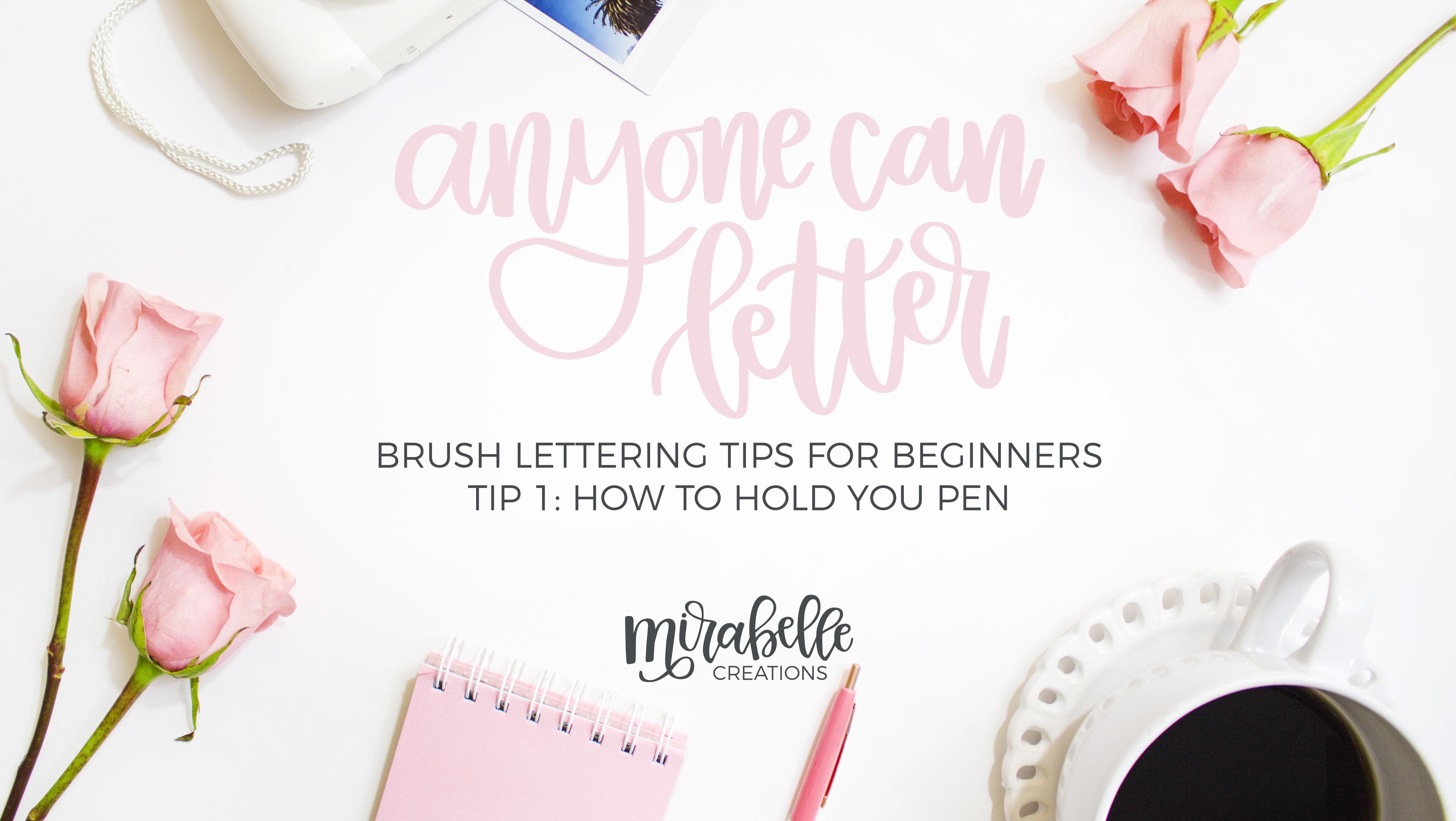 Brush Lettering Tips for Beginners YouTube Series