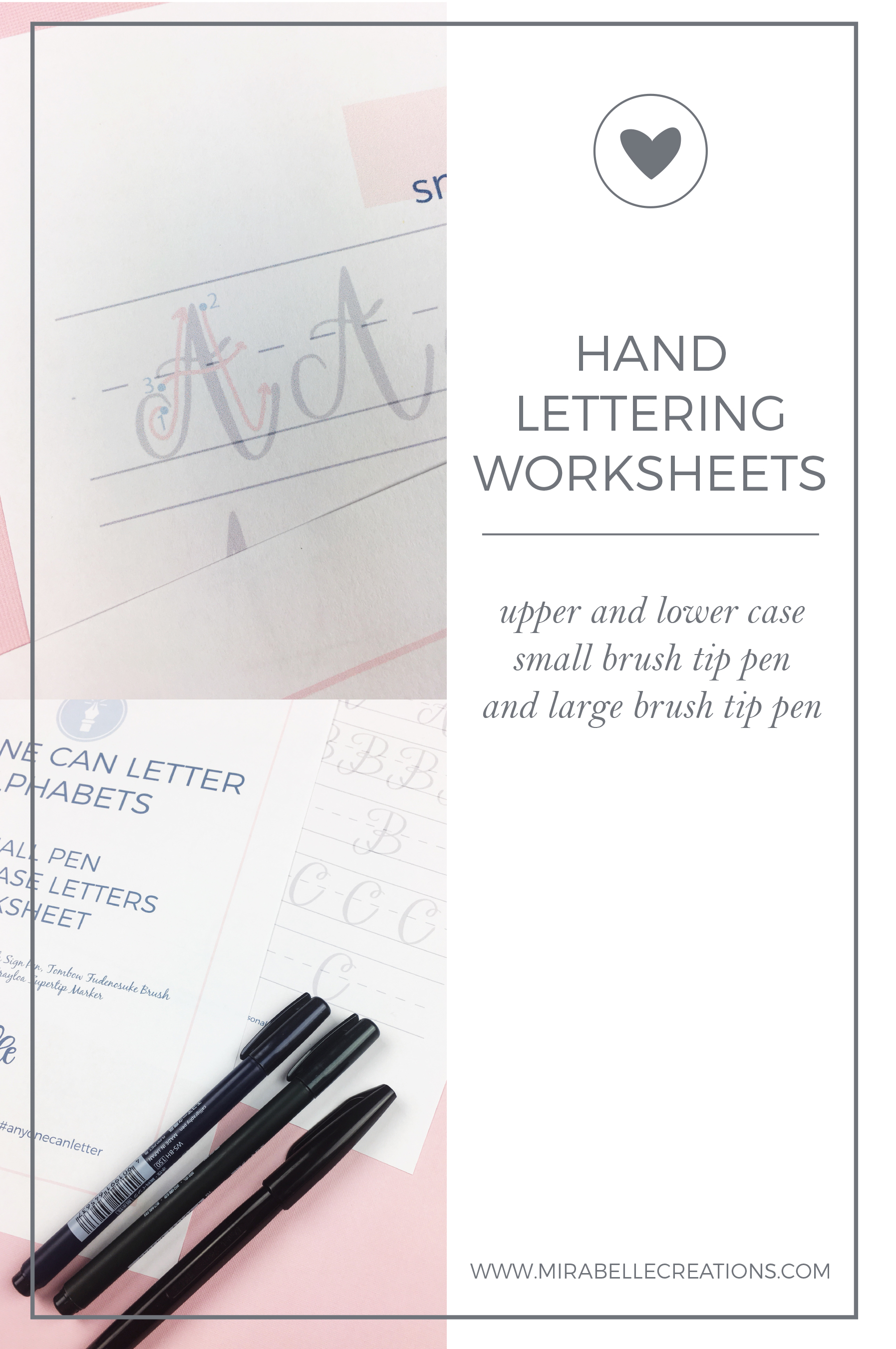 Hand Lettering Worksheets now available in the Shop