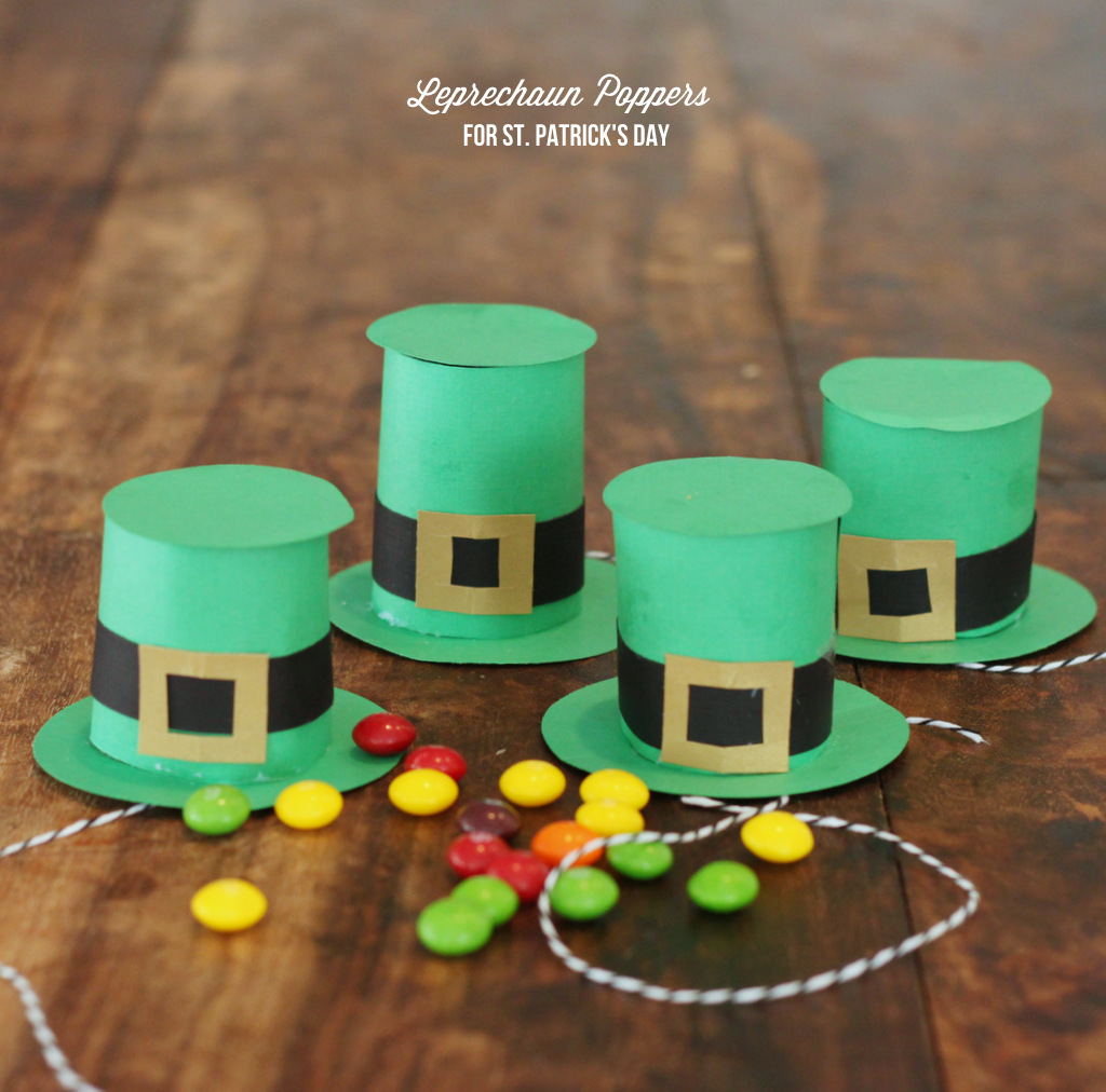 Leprechaun Poppers DIY for St. Patrick's Day by Mirabelle Creations