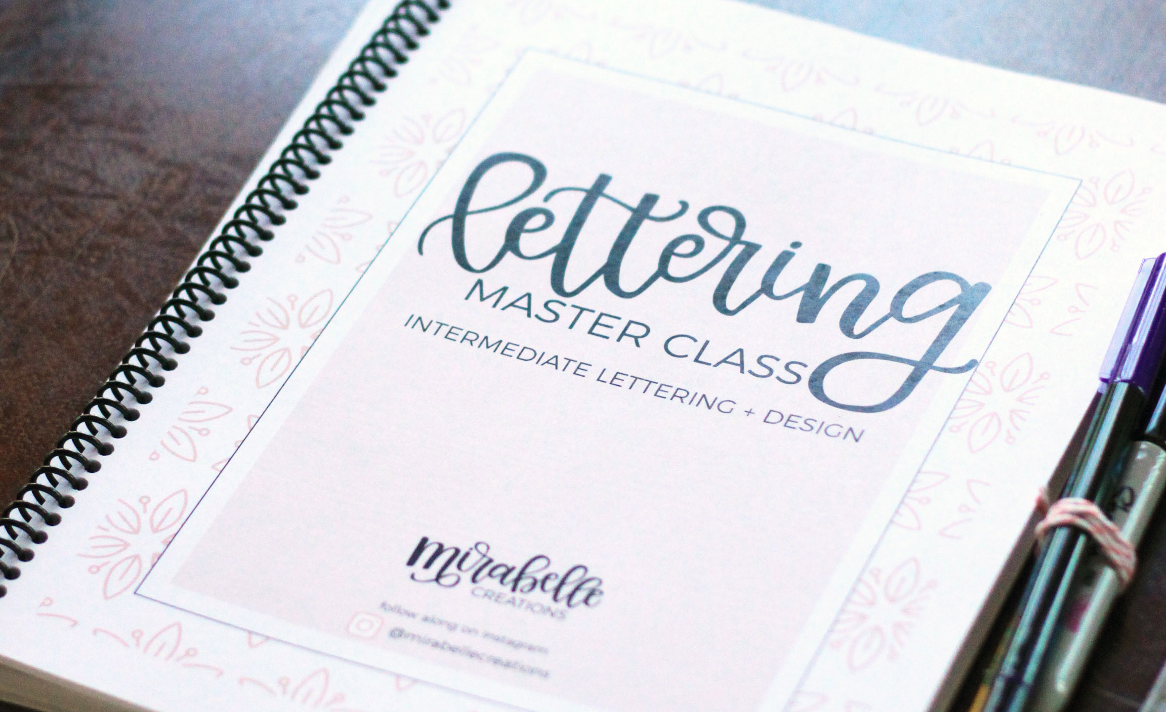 Intermediate Hand Lettering Class with Level Up