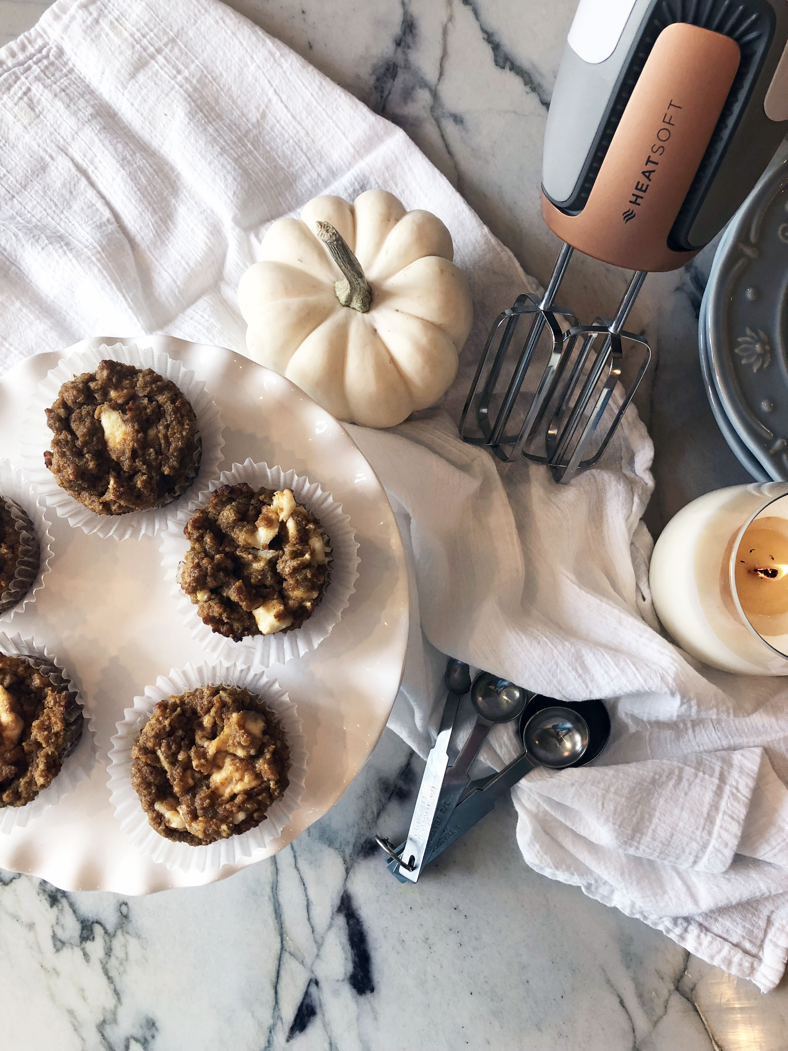 Low Carb, Keto Friendly Pumpkin Muffins with Cream Cheese Swirl by Mirabelle Creations