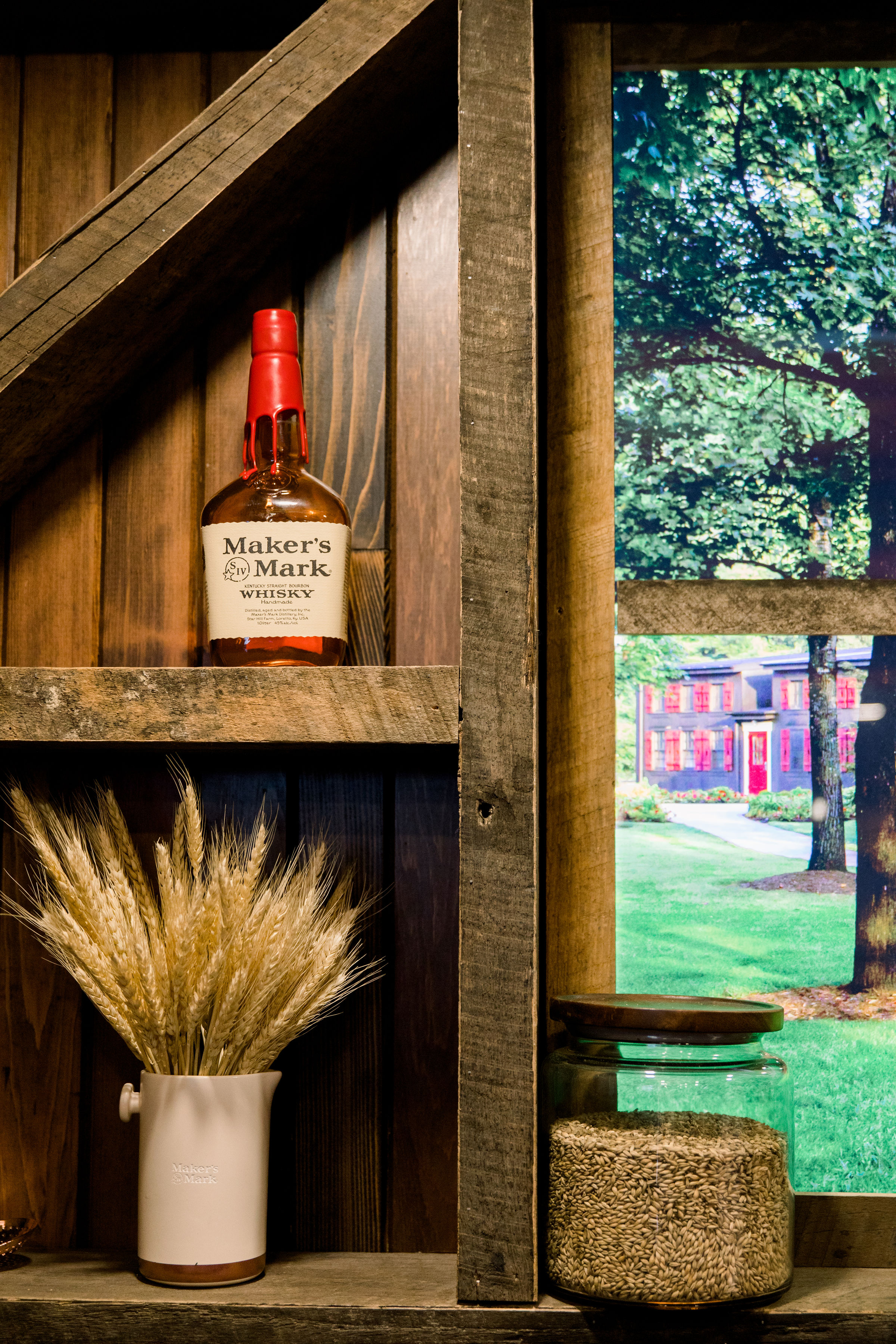 Makers Mark bottle at Makers Wanted Booth at Keeneland during Derby Day. Photo by The Malicotes
