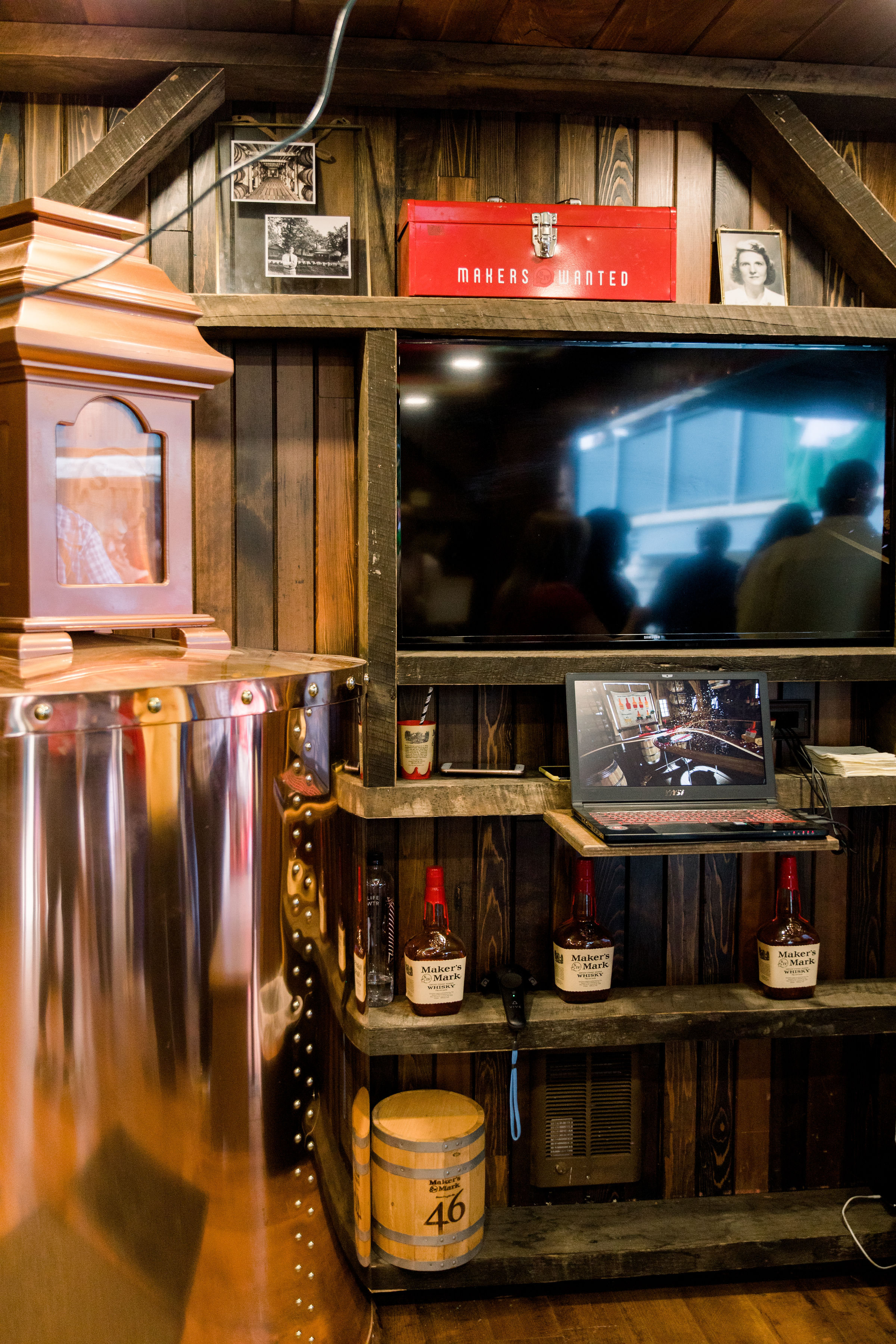 Makers Mark Makers Wanted Booth at Keeeland for Derby Day
