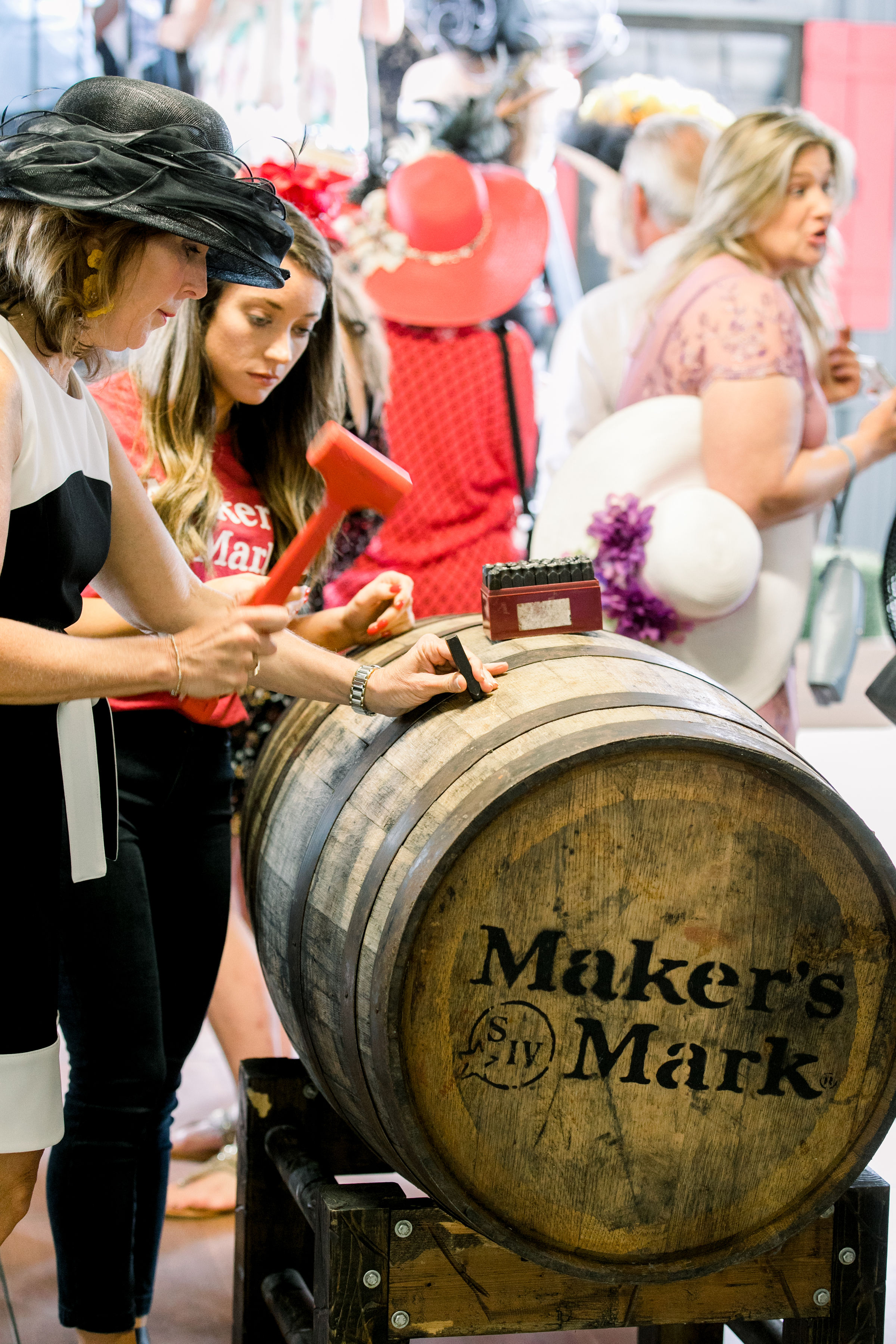 Makers Mark Bourbon Barrel at Keeneland for Derby Day. Photo by The Malicotes