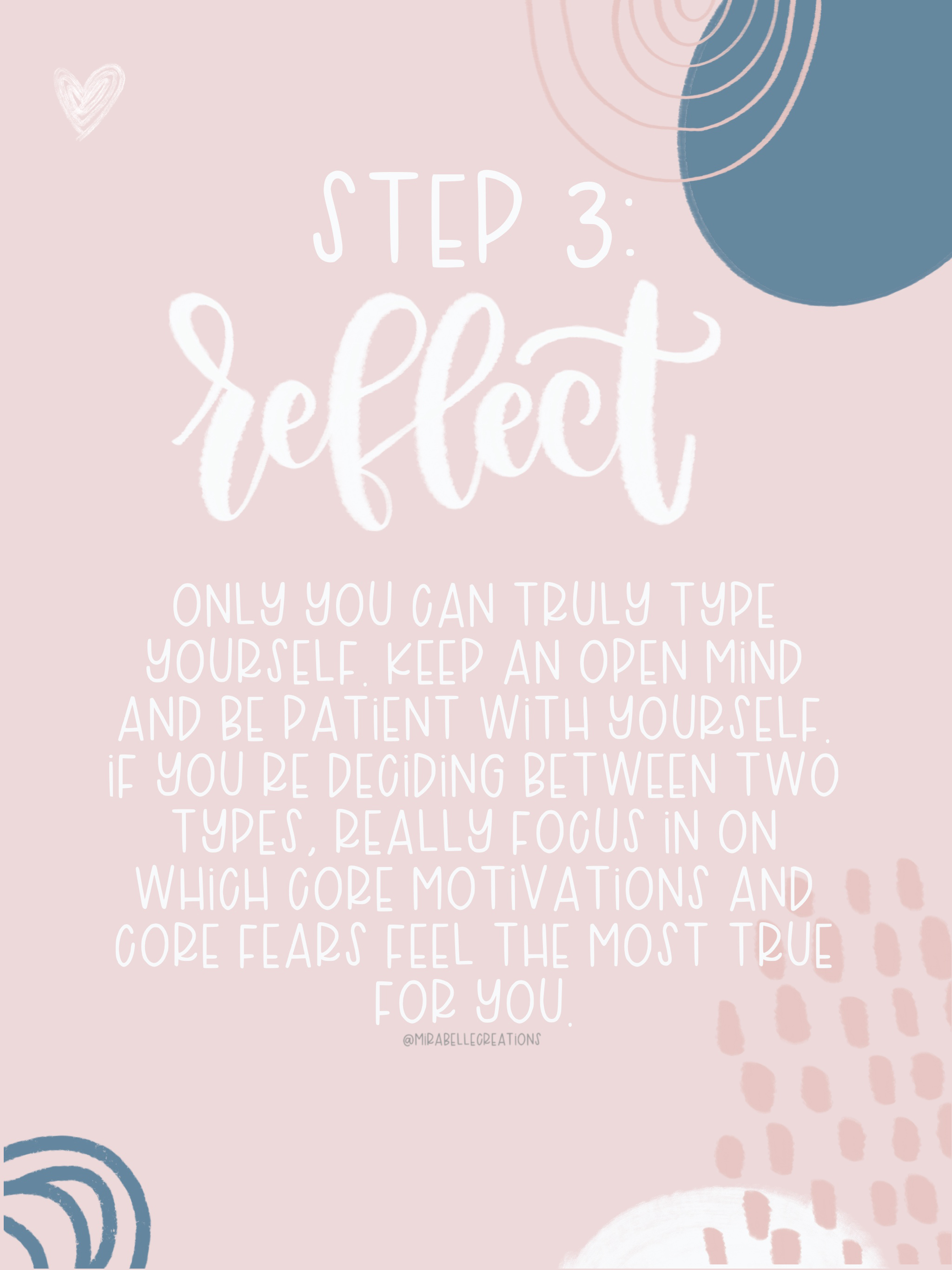 Determine Your Enneagram Type - Step 3: Reflect